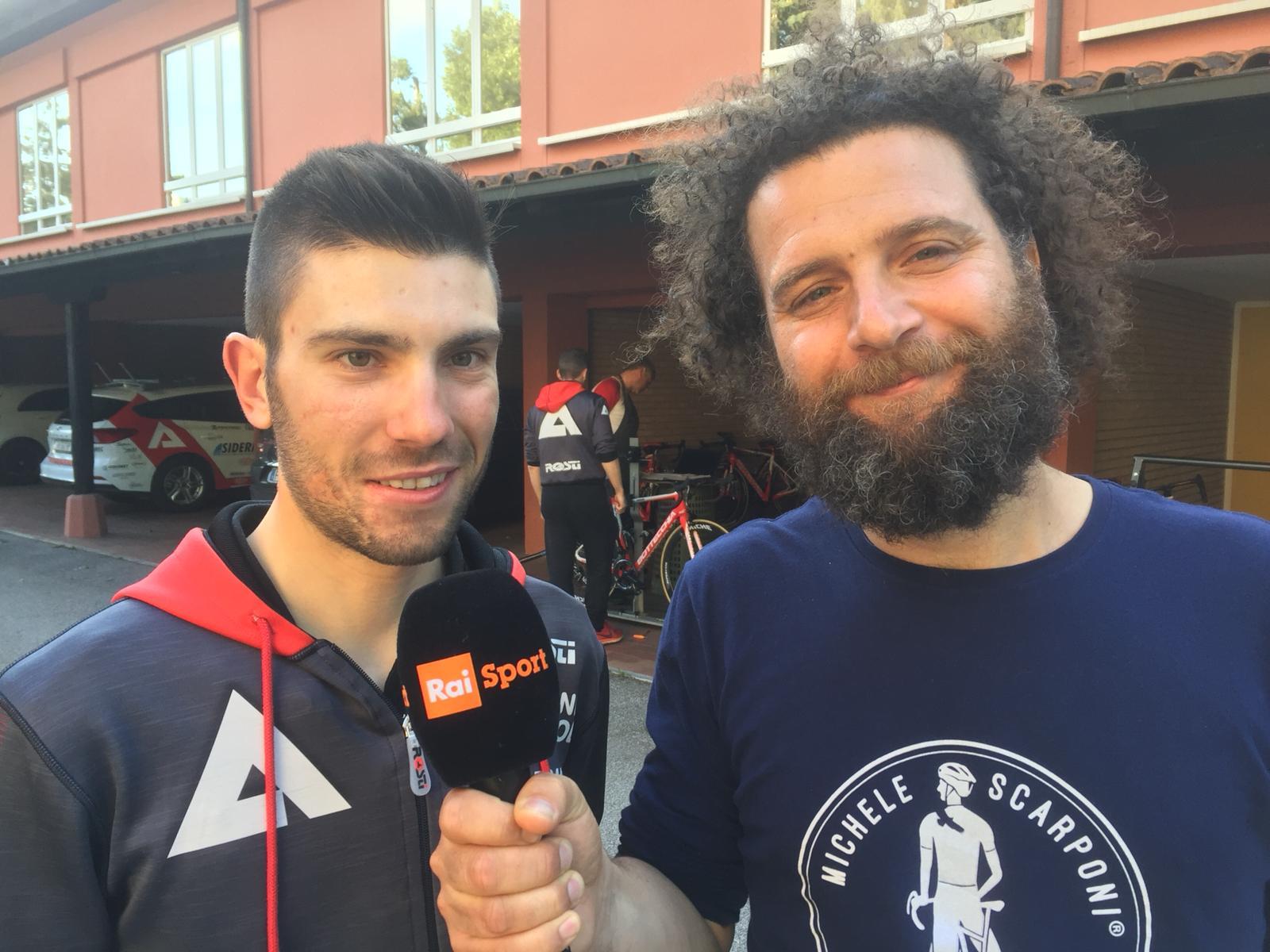 Marco Scarponi Sicuri in Giro interviste durante il Giro d'Italia